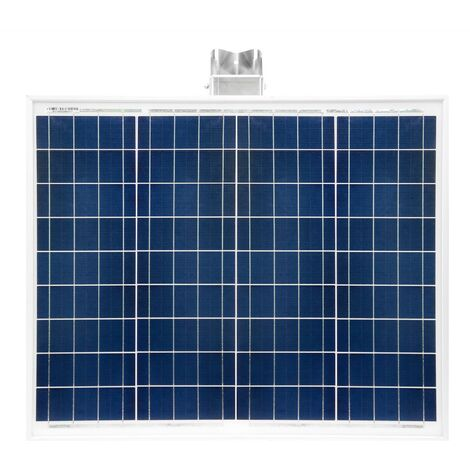 50 Watt Solar Photovoltaik Inselanlage mit Universalhalterung Basis Set Garten