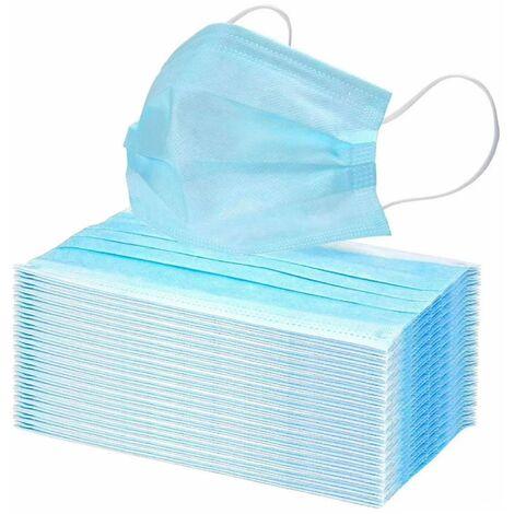 50 x Einmal-Mundschutz 3 lagig Mundschutzmaske Atemschutz Mund- Nasenbedeckung