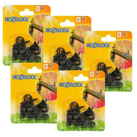 50 x Hozelock 2771 Supply Hose Clip 13mm Micro Irrigation Automatic Watering