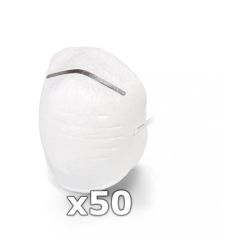50 St/ück A Staubschutz aus Vlies 50 x Mundschutz