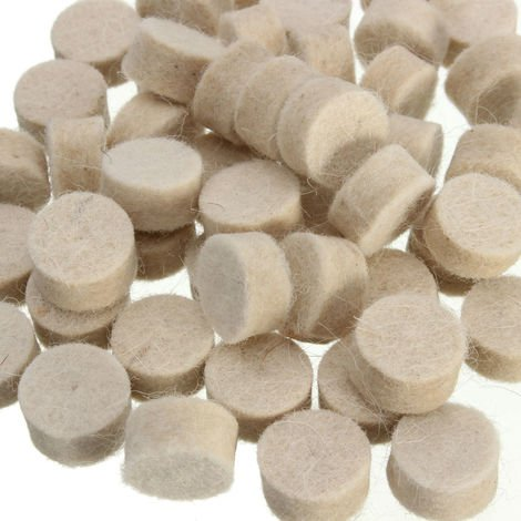 50 X Wool Felt Polishing Polishing Round Wheels 13 Mm * 7 Mm For Dremel Rotary Tool Hasaki