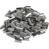 500 pz. Sigilli per reggetta da 12 15 mm in acciaio fermaglio blocca reggia