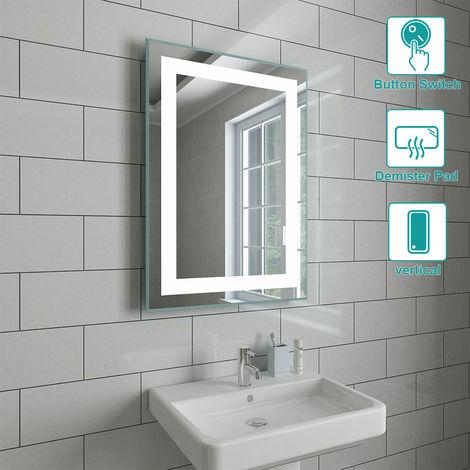 500 x 700mm Bathroom Illuminated LED Mirror with Demister(Type C)