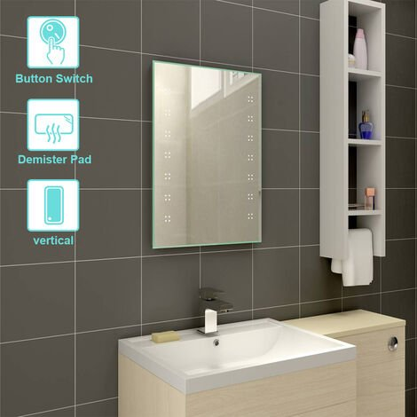 500 x 700mm BathroomIlluminated LED Mirror with Demister(Type E)