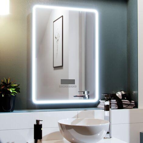 "main image of ""500 x 700mm LED Rectangle Bluetooth Speaker Mirror"""