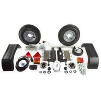 500Kg Trailer Kit Suspension Units Hitch Lights Mudguards Towing 5m Cable Wheels