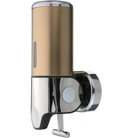 500Ml Manual Stainless Steel Soap Dispenser Liquid Wall Mount Kitchen Bathroom Sink Or