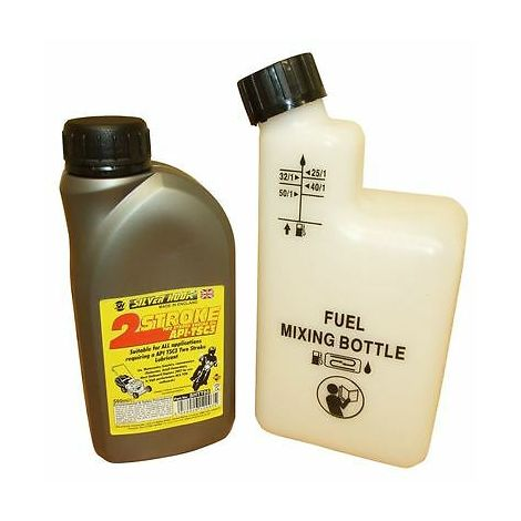 500ML Of 2 Stroke Oil & Fuel Petrol Mixing Bottle For Chainsaw Cut Off Saw