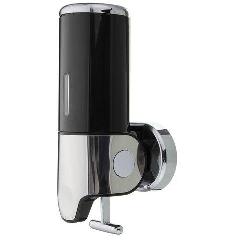 500ML Savon de distributeur de gel douche shampooing salle de bain mural pompe noir