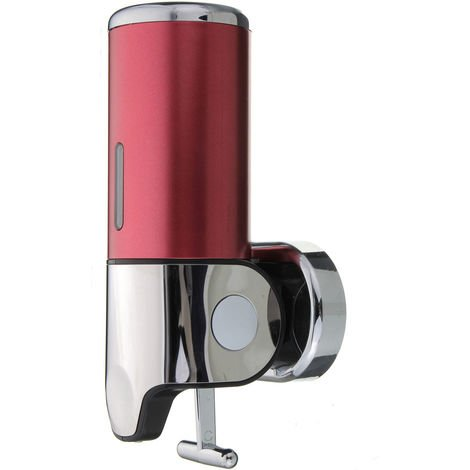500ml stainless steel manual soap dispenser liquid wall mounted kitchen bathroom sink red