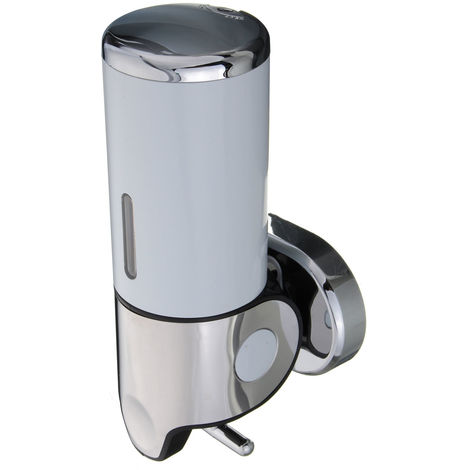 500ml stainless steel manual soap dispenser liquid wall mounted kitchen bathroom sink white