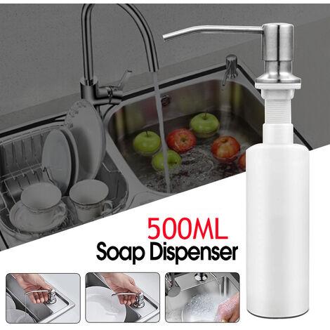 500ML Stainless Steel Soap Dispenser Kitchen Liquid Pump Easy Installation