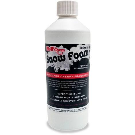 500ml Wolf Chem Snow Foam with Cherry Fragrance Car Valet Wax & Shampoo