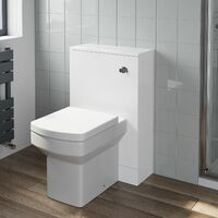 500mm Bathroom Toilet Back To Wall Unit Pan Soft Close Seat White