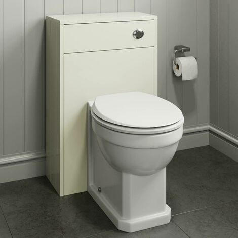 500mm Bathroom Toilet BTW Unit Pan Back To Wall WC Ivory Traditional