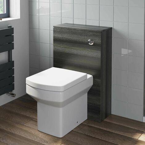 500mm Bathroom Toilet BTW Unit Pan Soft Close Seat Charcoal Grey
