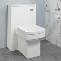 500mm Bathroom Toilet Concealed Cistern Pan Soft Close Seat White