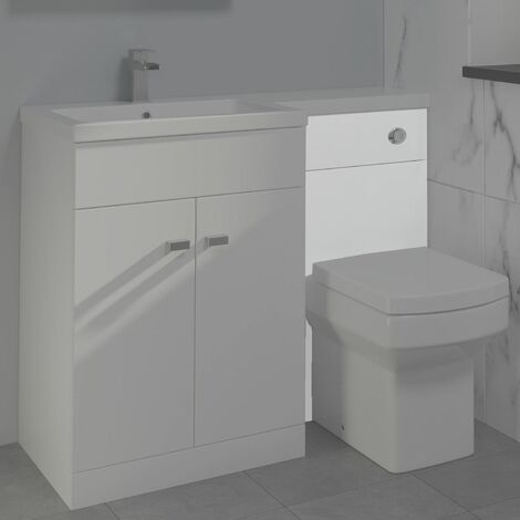 500mm Bathroom WC White Gloss Cistern Toilet Housing Unit