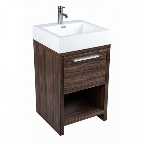 500mm Floorstanding Bathroom Cloakroom Vanity Basin Sink Unit Cabinet
