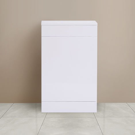 500mm Gloss White Back To Wall Toilet Cistern Unit Bathroom Furniture