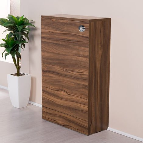 500mm Walnut Back To Wall Toilet Concealed Cistern Housing Unit Bathroom Furniture