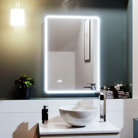 500mm x 700mm Edge LED Round Corner Bathroom Mirror