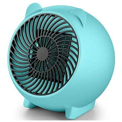 500W Mini Ceramic Fan Heater PTC Portable Electric Fan Heater Blower Heater Quiet Quick Heater Convector Heater Overheat Protection Bedroom Office