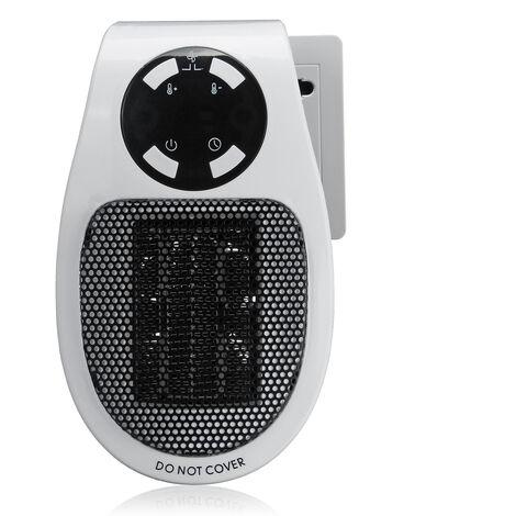 500W Mini Chauffage électrique Soufflant Radiateur Prise EU LED télécommande
