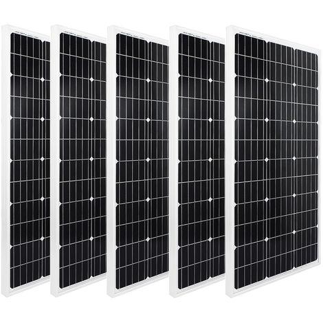 500W Solar Panel battery Kit 5x100W 12V Photovoltaic PV Solar Module RV Camp van