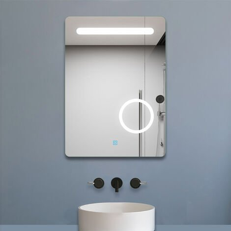 """main image of """"500x700mm Vertical Illuminated LED Bathroom Mirror with Lights 500 x 700 3x Magnifying Mirror Touch Sensor Control"""""""