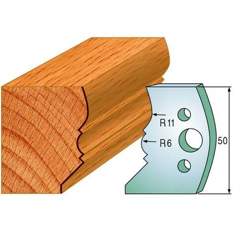 503 : Jeu de fers moulure ( 50 x 4 mm ) porte outils toupie