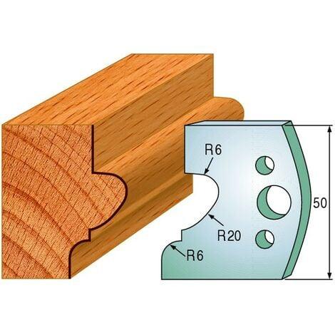 505 : Jeu de fers moulure ( 50 x 4 mm ) porte outils toupie