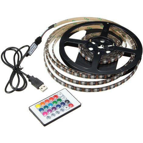 5050 Rgb Led Srtip 60 Smd Strip Light 5V Ip65 + 3M Remote Control