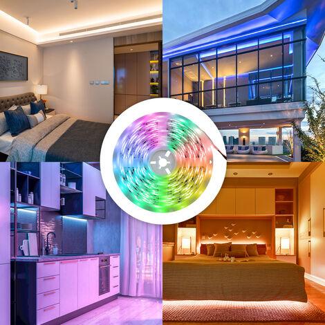5050RGB, 5 metros 150 Luces de la correa Luz de epoxy IP65 a prueba de agua con control remoto, conexion Bluetooth, Control App
