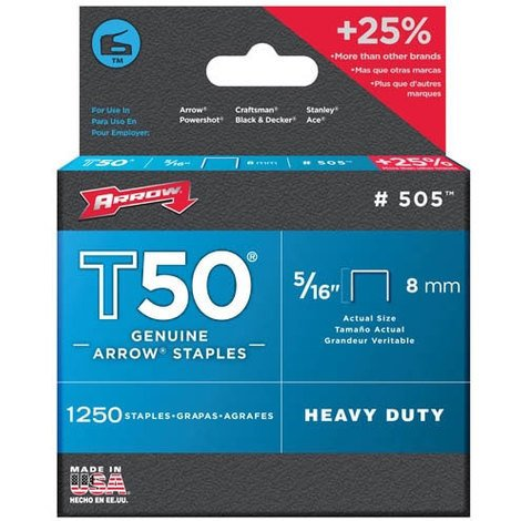 "506 Genuine T50 3/8"" Staples"