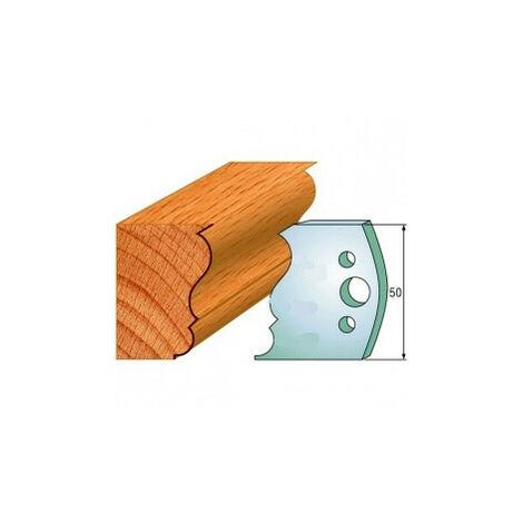 506 : Jeu de fers moulure ( 50 x 4 mm ) porte outils toupie