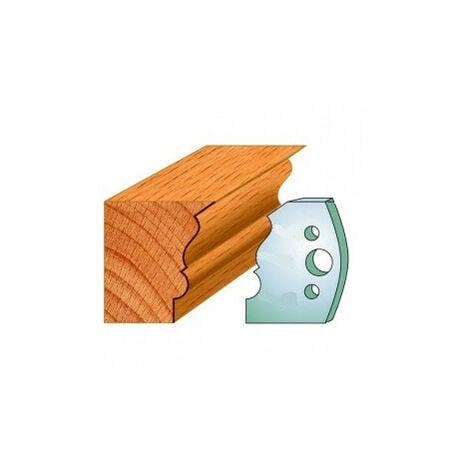 509 : Jeu de fers moulure montant ( 50 x 4 mm ) porte outils toupie