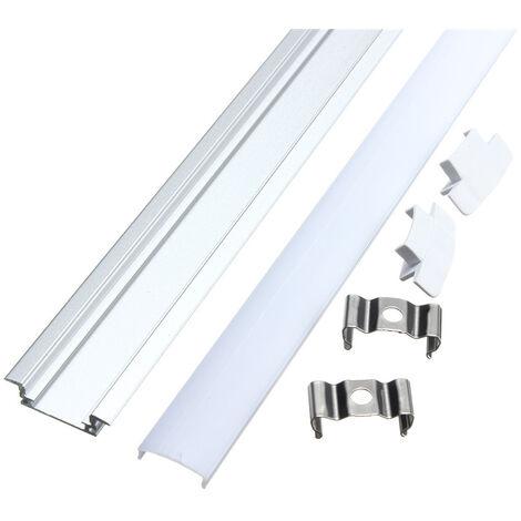 50CM Small aluminum profile for LED strip + V rigid cover Hasaki