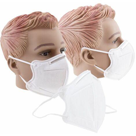 50er Pack Mundschutzmaske FFP2 KN95 Schalenmundschutz Atemschutz Gesichtsmaske mit Nasenbügel
