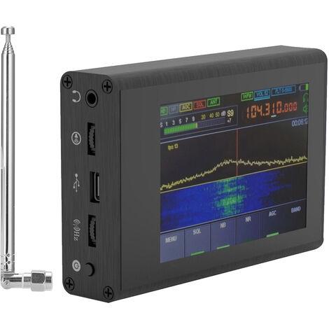 50KHz-200MHz malachite SDR radio a ondes courtes bruit Logiciel Rreduction Defined Radio Recepteur avec 3,5 pouces touchant l'ecran tactile et l'antenne, avec antenne