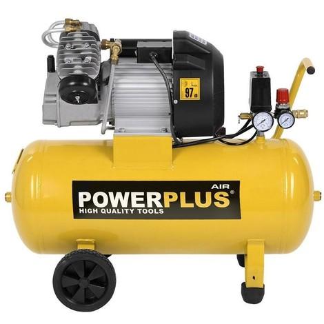 50L Druckluft Kompressor 9 bar 3 PS 50 Liter Tank rollbar Drucksteuerung