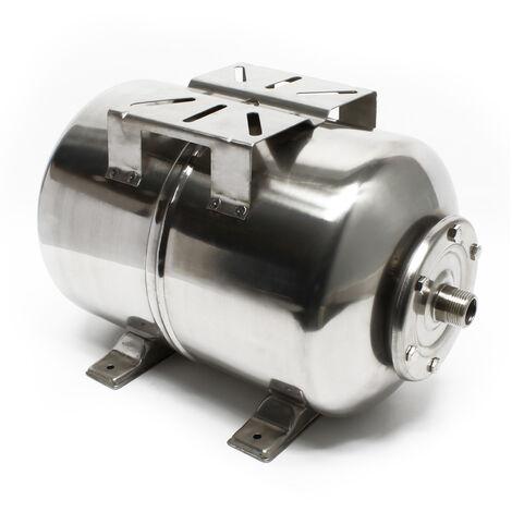 50L INOX Réservoir pression à vessie pour la surpression domestique cuve ballon suppresseur pompe