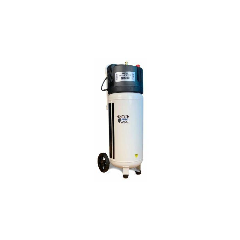 Image of Autojack AIR50VL 50L Oil Free Belt Driven Compressor