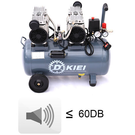 50L Whisper Compressor 3.5HP 9.6CFM Air Compressor 60 dB Silent Oilless