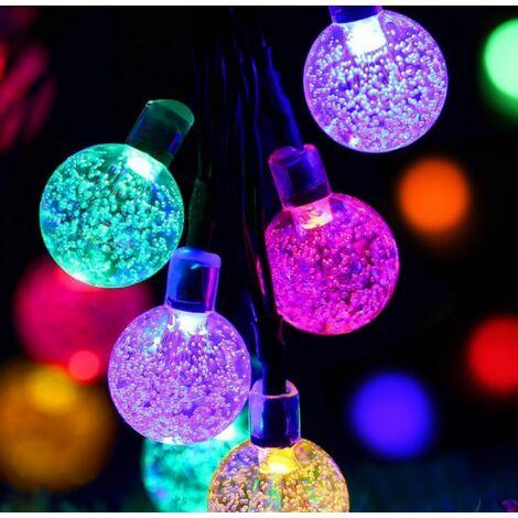 50LED Solar Power String Fairy Light Garden Outdoor Party Wedding Christmas Lamp (Multicolor, 9.5M 50Balls Solar)