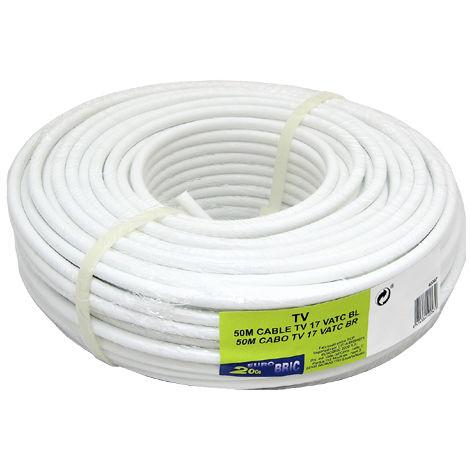 50m cable coaxial t.v. conductor ccs económico