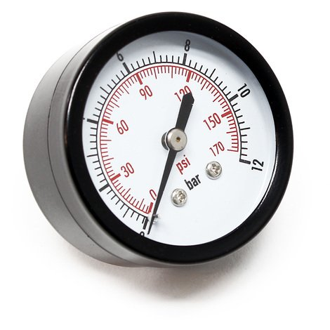 "50mm Pressure Gauge i.e. for Pressure Vessel axial 1/4"" 0-12bar 0-180PSI"
