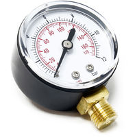 "50mm Pressure Gauge i.e. for Pressure Vessel radial 1/4"" 0-12bar 0-170PSI"