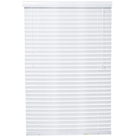 """main image of """"50mm White Faux Wood Blinds Window Shades Shutter Curtains"""""""