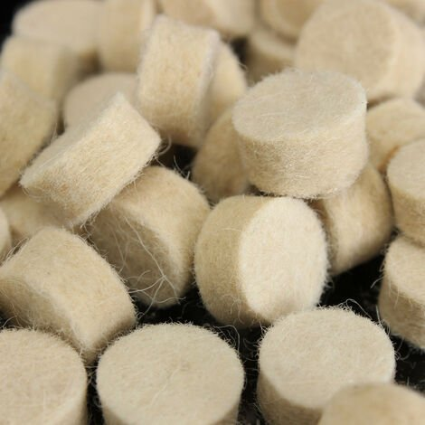 50Pcs 13mm x 7mm Wool Felt Polishing Round Buffing Tool Wheels for Rotary Mohoo